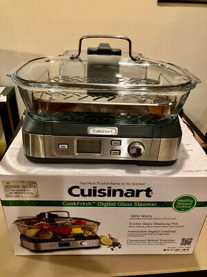 Cuisinart STM-1000 Digital All Glass Electric Food Steamer Pot Stainless Steel