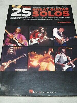 25 Great Guitar Solos Learn to Play Lessons Tab Hal Leonard Book & Online Audio