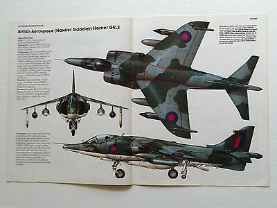 THE ENCYLOPEDIA OF AIRCRAFT No.3-H.S.HARRIER INC CENTRE SPREAD & CUTAWAY