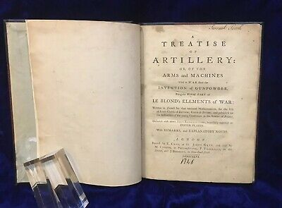RARE - Original First Edition - Le Blond's A Treatise of Artillery and Arms 1746