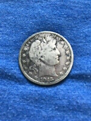1915-D Denver Mint Silver Barber Half Dollar Very fine to EXTRA Fine-90%SILVER
