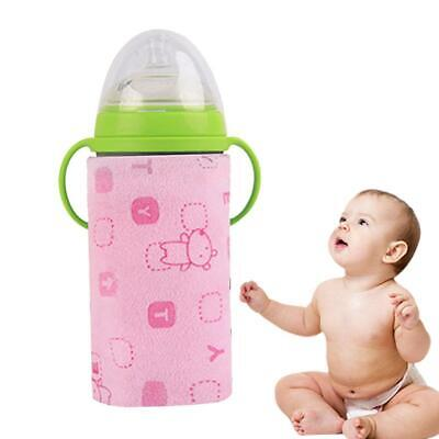USB Portable Travel Baby Feeding Bottle Warmer Bag Heated Cover EH7E