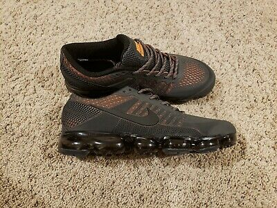 2018 MEN'S NIKE AIR VAPORMAX FLYKNIT/ Size 11/ Gray and Orange