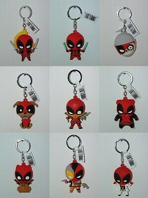 Series 3 DEADPOOL FIGURAL KEYRINGS Collectible 3D Foam Keychains Disney Marvel