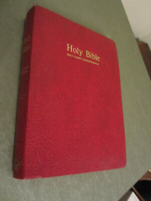 Holy Bible King James Version KJV Red Letter Dictionary Concordance