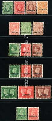 Morocco Agencies Tangier 1927 Sc 501-4+5-7+11-13+15-17+18-20+21-22 Mlh 18 Stamp