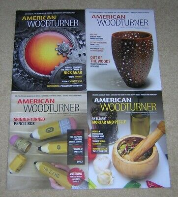 Lot of 4 AMERICAN WOODTURNER Magazines 2018 April June August October