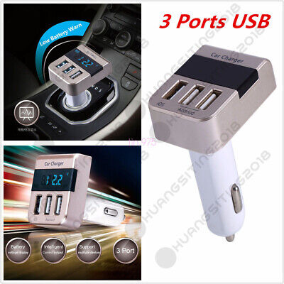 Car Quick Charger 3.1A 3 Ports USB Cigarette Lighter Charger For Phone  GH