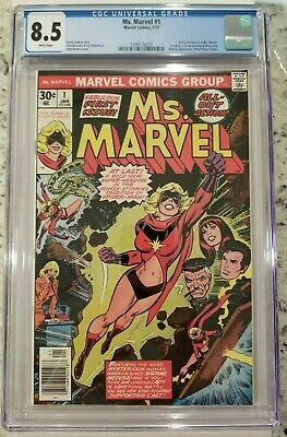 Ms. Marvel #1  Cgc 8.5 White Pages 1St Appearance Carol Danvers As Marvel 1977