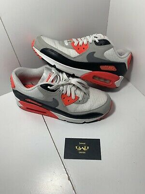 detailed look 47d9f b171c Nike Air Max 90 OG Size 8.5 725233-106 infra red authentic Rare White Black