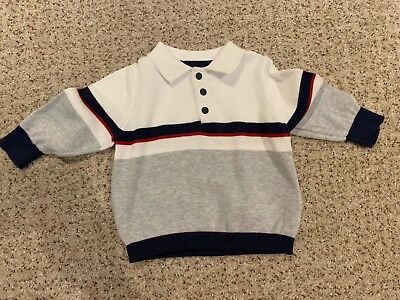 Sold out in Store! M&S Baby Boy 6-9 Months Shirt Stripe Polo Jumper!