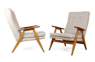 Vintage, Original, Pair of French Mid Century Armchairs, Antique c1960