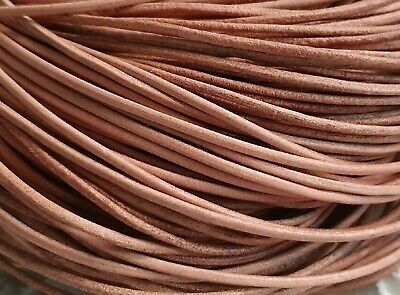 """Real Leather Quality Cord Tan 2mm Round Lace Thong Necklace Untreated 33"""" Approx"""