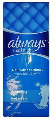 Always Maxi Profresh Night Without Wings - 9 Towels