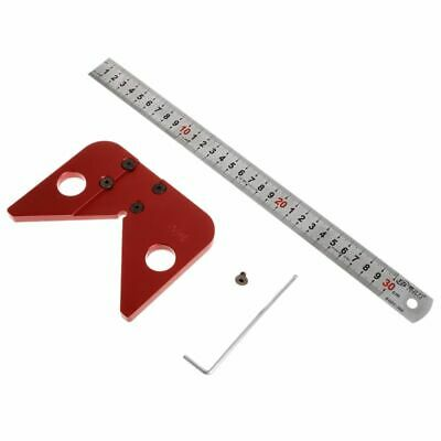 45 Degree Line Scriber Round Center Drawing Ruler Gauge Carpenter Layout Tools