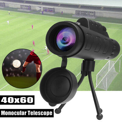 Night Vision Cell Phone HD 40x60 Dual Focus Zoom Monocular Binoculars Telescope