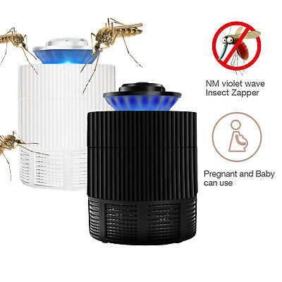 Electric Insect Killer Mosquito Pest Fly Zapper Catcher Quite Trap UV LED Lights