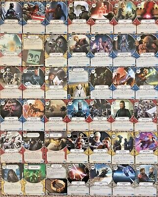 STAR WARS DESTINY: 42x Different COMMON CARDS from CONVERGENCE Set -BULK JOB LOT