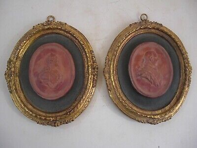 George III Catherine the Great Framed Large Plaster Intaglios French Tour Style