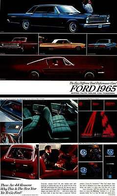 Ford 1965 - The Five Different Total Performance Cars! Ford 1965