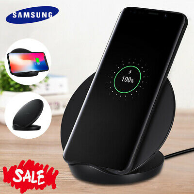 Samsung Qi Induktive Ladestation Fast Wireless Charger Galaxy S10 S9 Plus S8 S7+