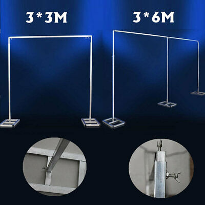 3X6M 3X3M Adjustable Telescopic Curtain Wedding Backdrop Stand Support Frame