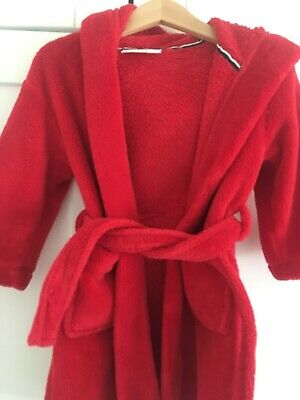 The Little White Company Red Fleece Dressing Gown 18-24 Months