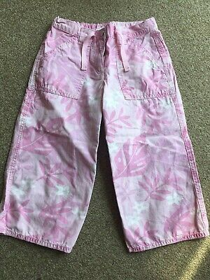 Girls, Next, Pink, Camoflague Print, Cropped Trousers. Age 8years  BRAND NEW