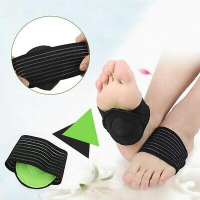 Portable Foot Pain Relief Plantar Fasciitis Insole Pads Arch Support Insert US