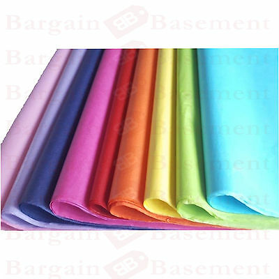 10 x TISSUE PAPER SHEETS 51 x 66 cm - Gift Wrap, Hampers, Flowers, CHOOSE COLOUR