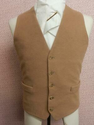 """Vintage Mens Beige Silk Lined Show/Competition Waistcoat - 38"""" Chest"""