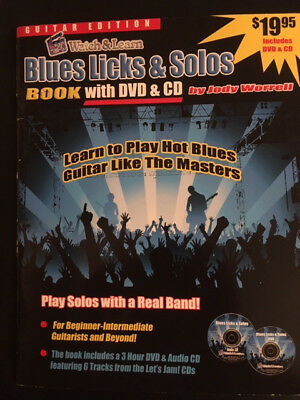 WATCH AND LEARN--Blues Licks and Solos Book/CD/DVD--FREE SHIPPING