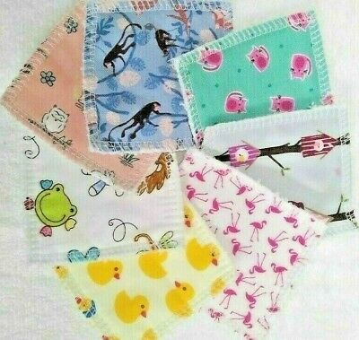 Reusable Make Up Remover Pads X 10 100% Cotton Animals ECO Friendly Lots Styles