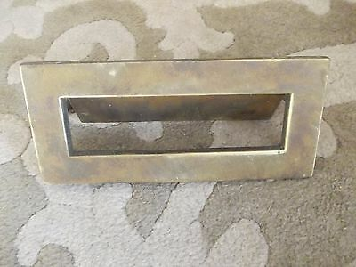 Vintage Brass Letter Box Flap With Old Screw Nuts And Bolts