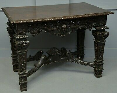 Elaborate Victorian Carved Oak Centre Table