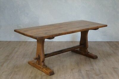 Antique Rustic Oak Farmhouse Refectory Dining Table
