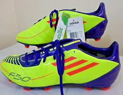 a6a951447 ADIDAS NEW Soccer Cleats Electric F10 TRX FG Mens Size 12M Yellow Red Blue  w
