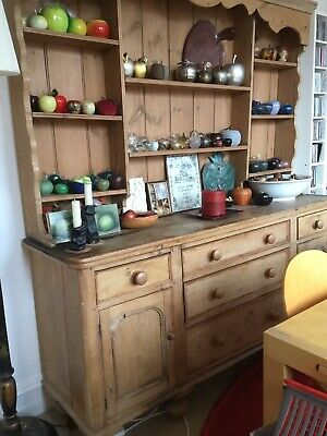 antique rustic pine kitchen dresser - One Off, Battered And Loved
