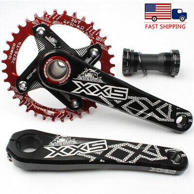 32-42t 104bcd Narrow Wide Single Chainring MTB Bike Crankset GXP Crank set BB