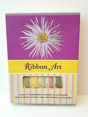 Ribbon Art Embroidery Craft Kit with How To Book by Brenda Kee 10 Projects New