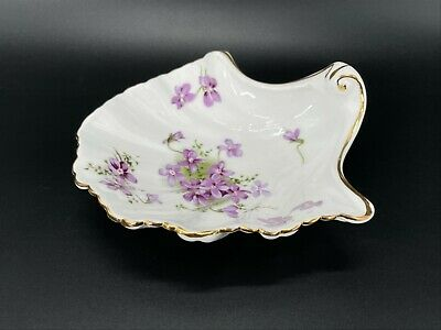 Hammersley Victorian Violet Sea Shell Large Sweet But Dish England Bone China