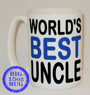 World's Best Uncle Big 15 Oz Mug Can Be Personalised Great Family Cup Gift