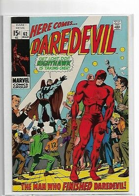Daredevil 62 - SILVER AGE - NM- - 9.0