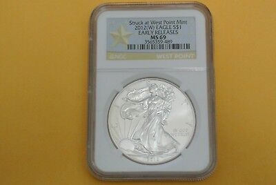 2012(W) American Silver Eagle Early Releases NGC MS 69