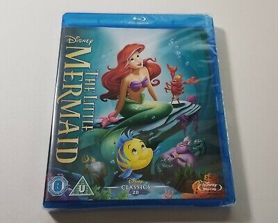 The Little Mermaid (Blu-ray, Disney, Region Free) *BRAND NEW/SEALED*