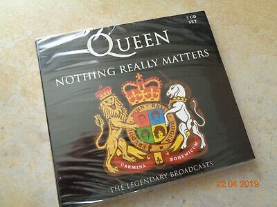Queen ‎– Nothing Really Matters - The Legendary Broadcasts 3 x cd album SEALED