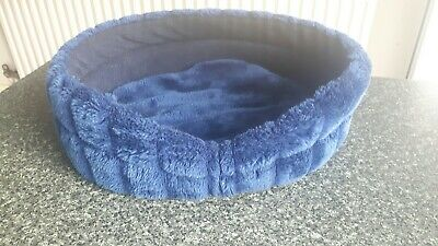 CAT BED blue fur used condition