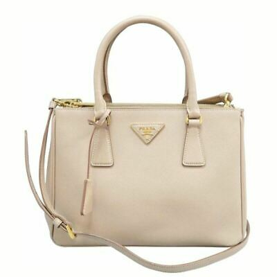 c9aa48e72fa0 PRADA GALLERIA DOUBLE Zip Tote Stitched City Calfskin Small ...