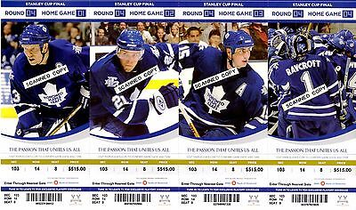 Toronto Maple Leafs Stanley Cup Round Full Ticket Sheet 2007