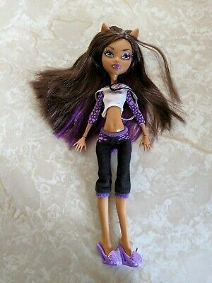"""Monster High 11"""" Doll CLAWDEEN WOLF WEREWOLF DEAD TIRED PAJAMAS SLIPPERS LOT"""